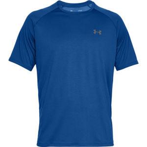 Under Armour TECH 2.0 SS modrá M - Pánské triko