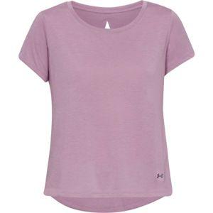 Under Armour WHISPERLIGHT SS FOLDOVER fialová L - Dámské tričko