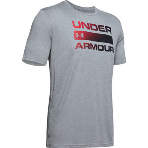 Under Armour TEAM ISSUE WORDMARK SS šedá M - Pánské triko