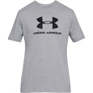 Under Armour SPORTSTYLE LOGO SS šedá M - Pánské triko