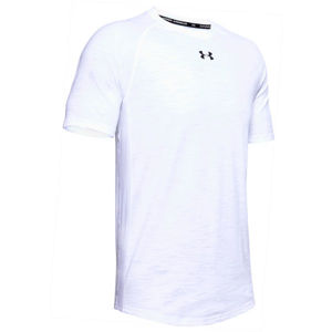 Under Armour CHARGED COTTON SS bílá XL - Pánské triko