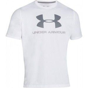 Under Armour SPORTSTYLE LOGO TEE šedá S - Pánské triko volného střihu