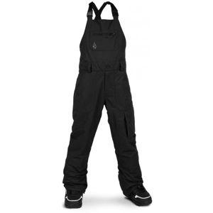 Volcom BARKLEY BIB OVERALL černá S - Dětské lyžařské kalhoty