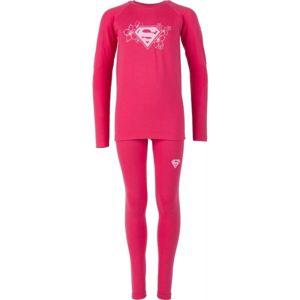 Warner Bros KIDS THERMO SET růžová 128-134 - Dětské funkční termoprádlo